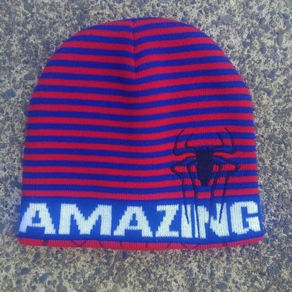 d1ce95bf98de0d Marvel Accessories | Nwot Kids Spiderman 2 Reversible Beanie Hat ...